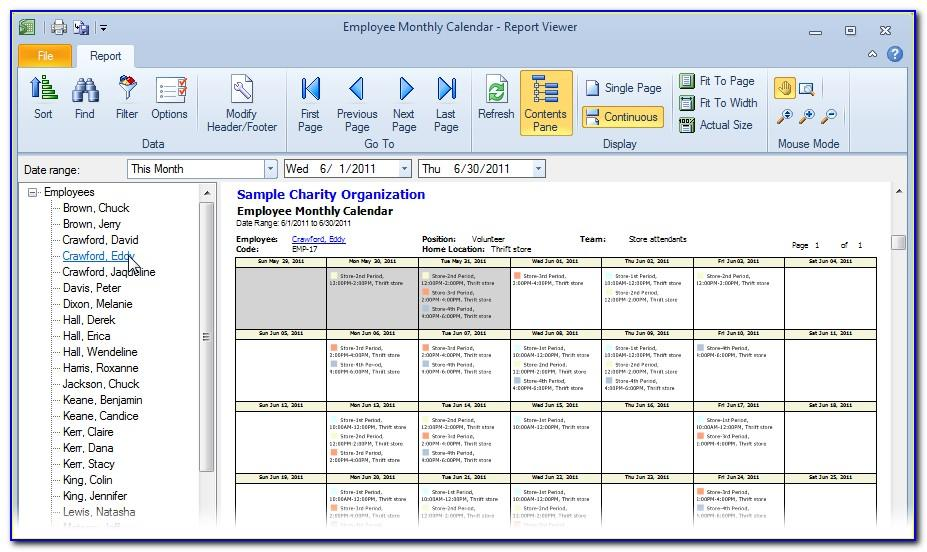 Microsoft Excel Staff Scheduling Template
