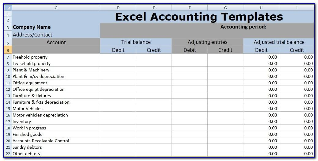Microsoft Excel Worksheet Templates