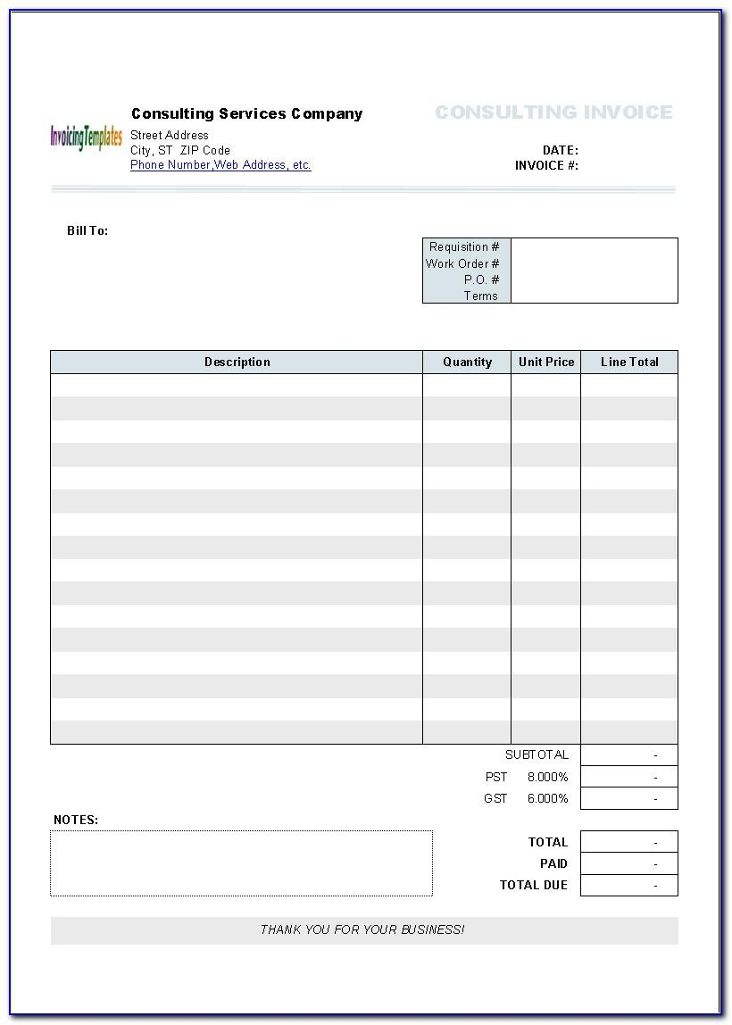 Microsoft Invoice Template For Mac