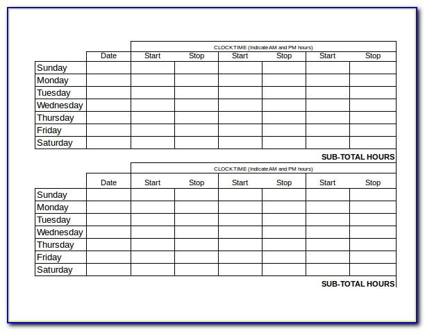 Microsoft Office Templates For Timesheets