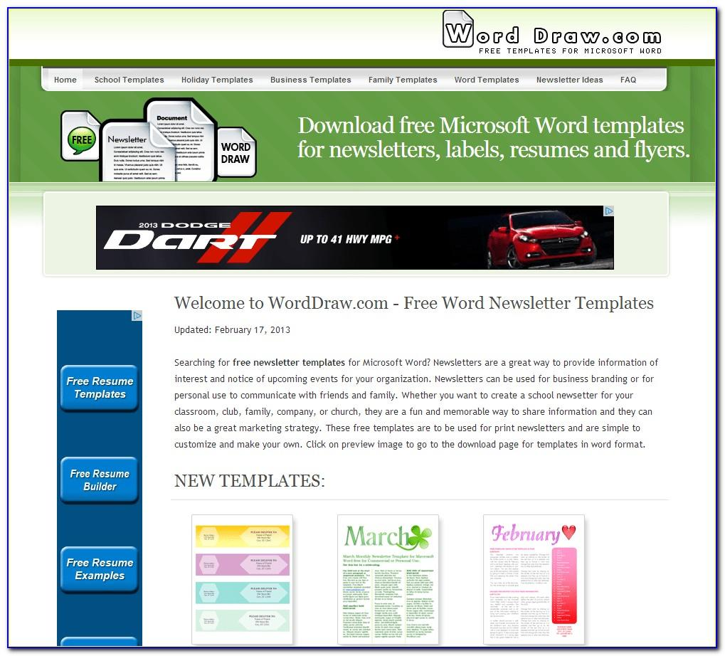 Microsoft Office Word 2007 Brochure Templates Download