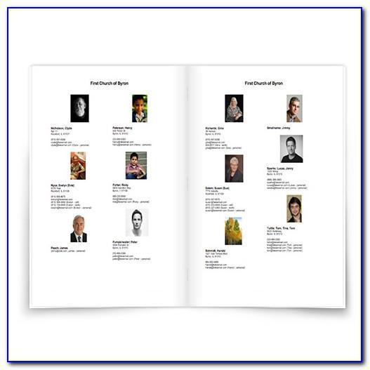 Microsoft Publisher Membership Directory Template