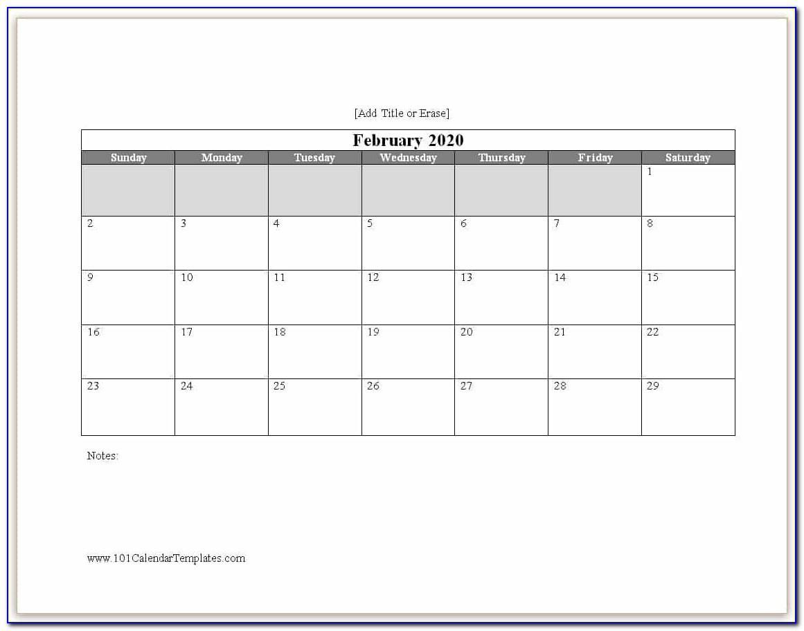 Microsoft Word Calendar Templates 2018