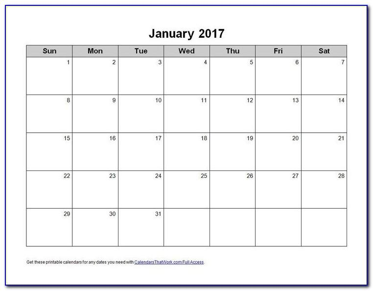 Microsoft Word Calendar Templates Free Download