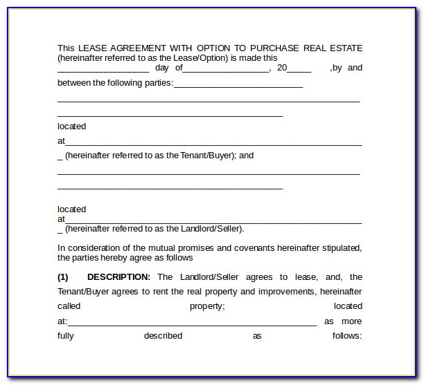 Microsoft Word Template Lease Termination