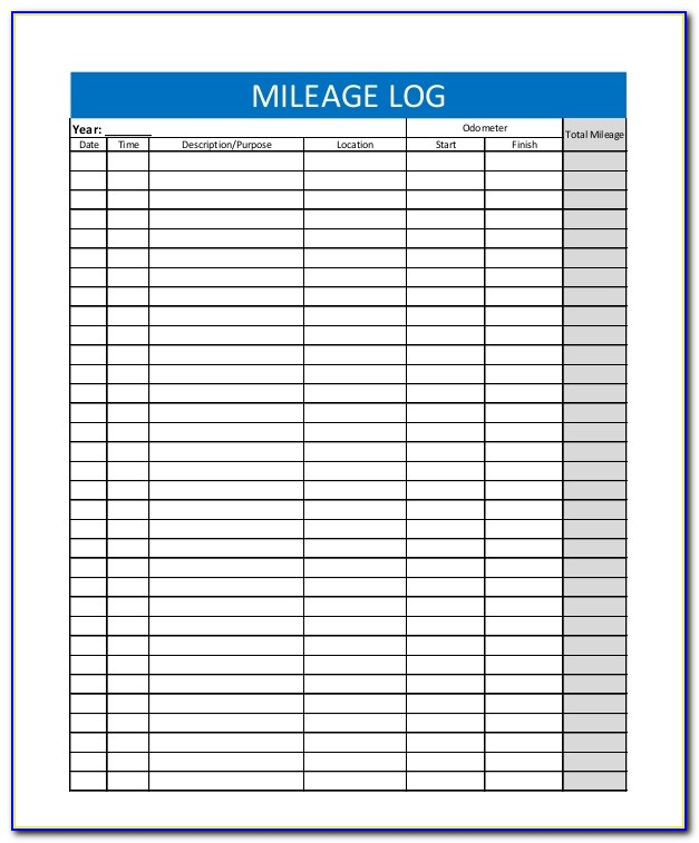 Mileage Log Template For Mac Numbers