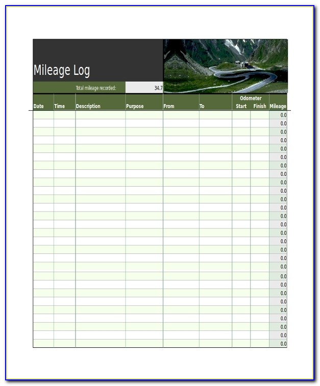 Mileage Tracker Form Pdf