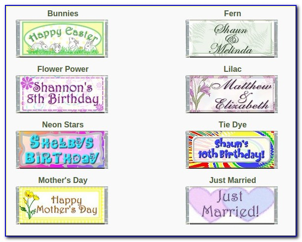 Mini Candy Bar Wrapper Template Birthday