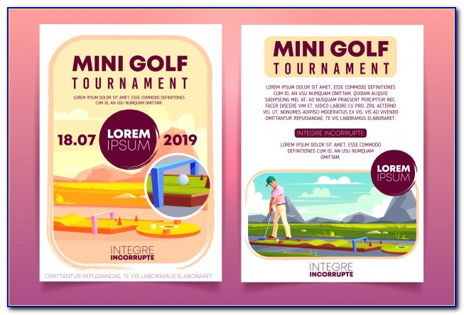 Mini Golf Party Invitation Template Free