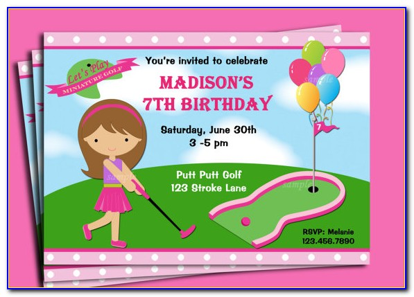 Mini Golf Party Invitation Template