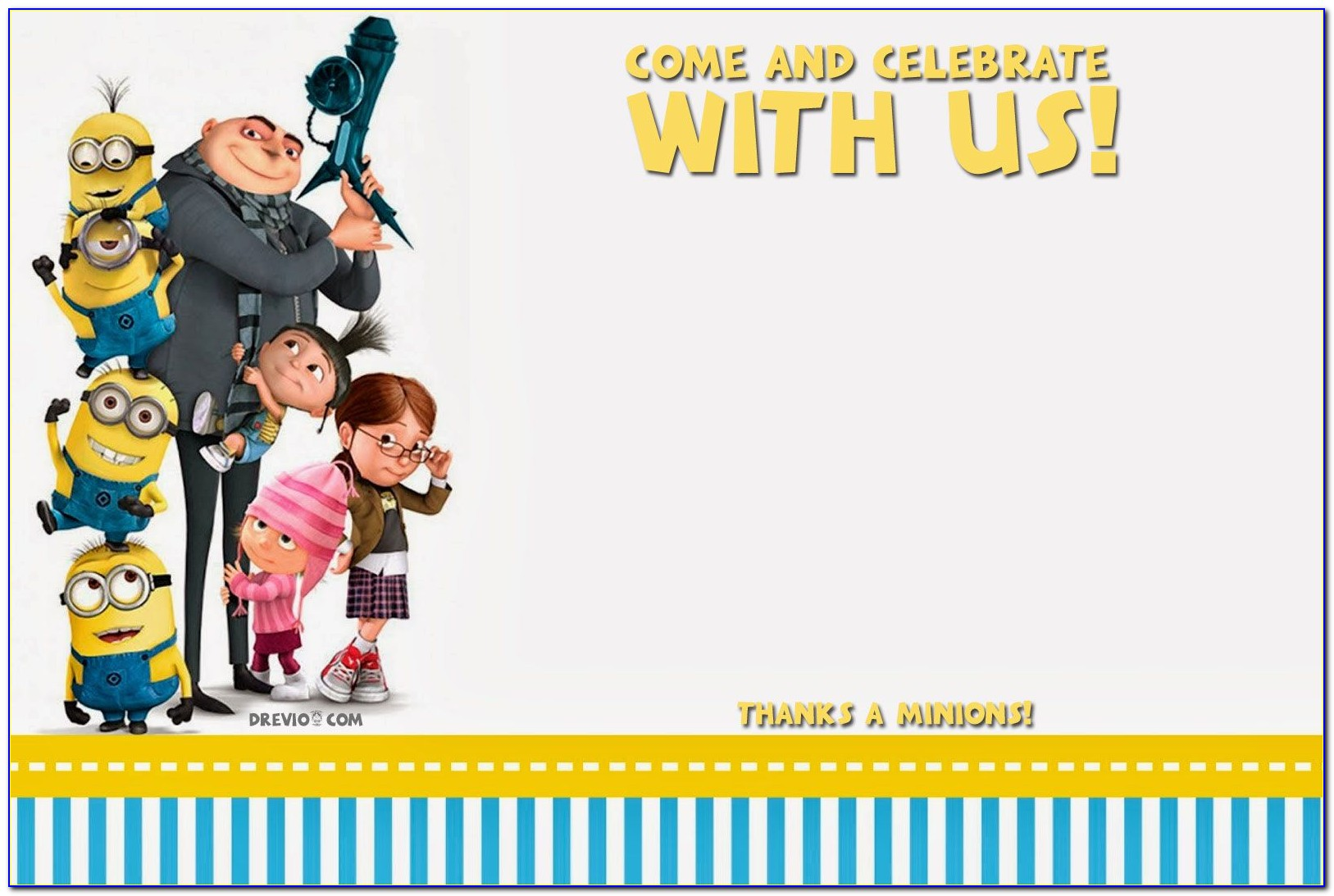 Minion Birthday Invitation Layout