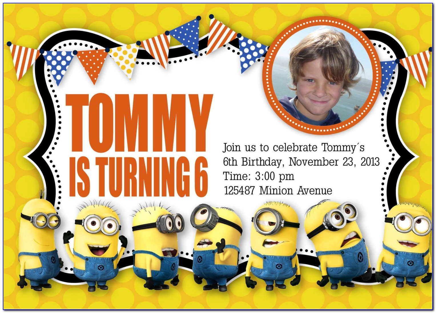 Minion Invitation Template Download