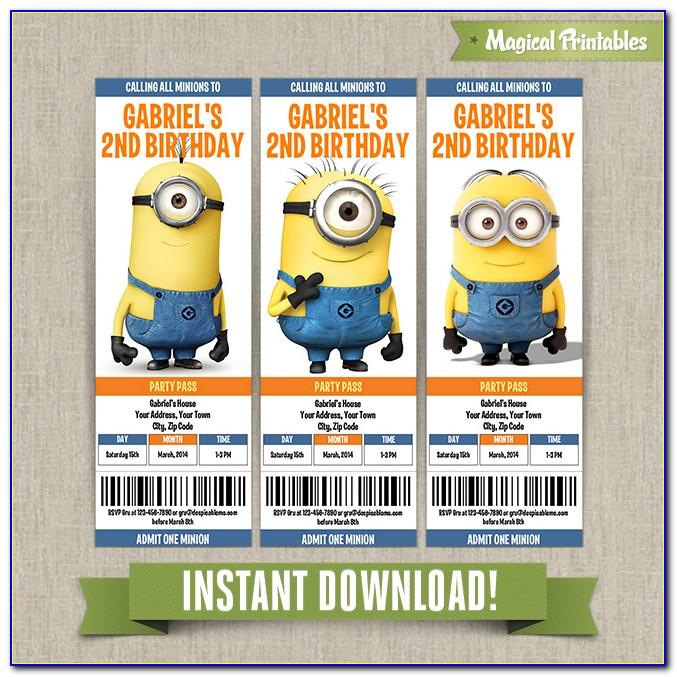 Minion Invitation Templates Free Download