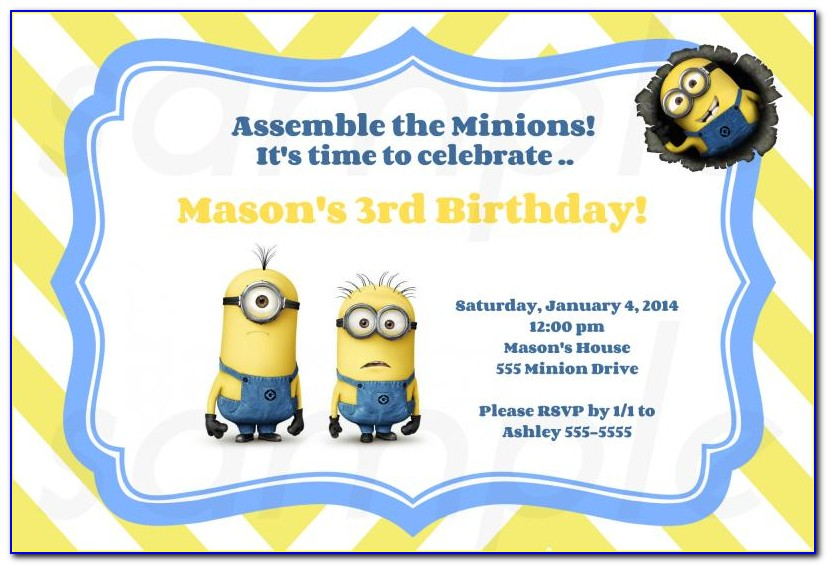 Minions Birthday Invitation Template Free
