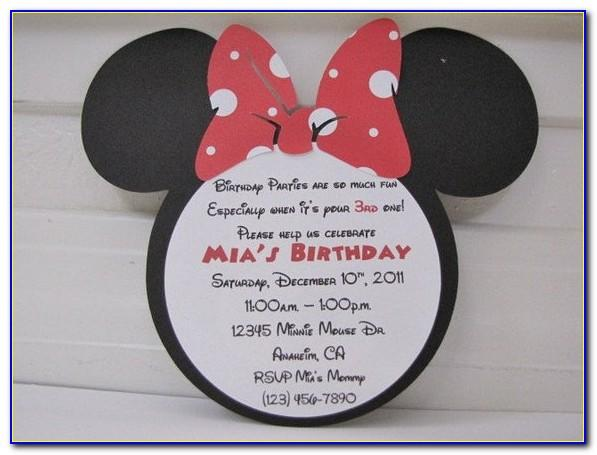 Minnie Mouse 3rd Birthday Invitation Wording