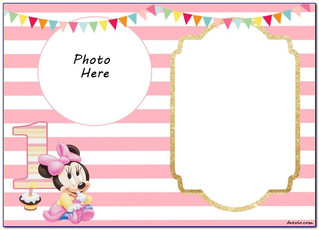 Minnie Mouse Birthday Invitation Layout