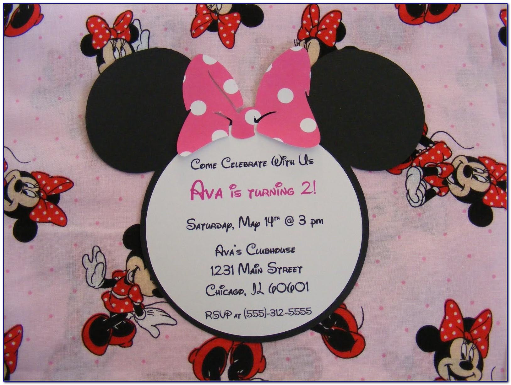 Minnie Mouse Birthday Invitation Message