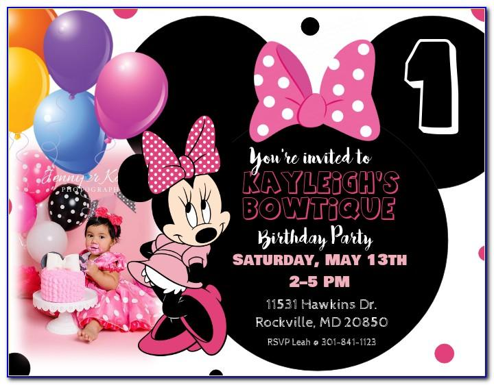 Minnie Mouse Birthday Invitation Template Free