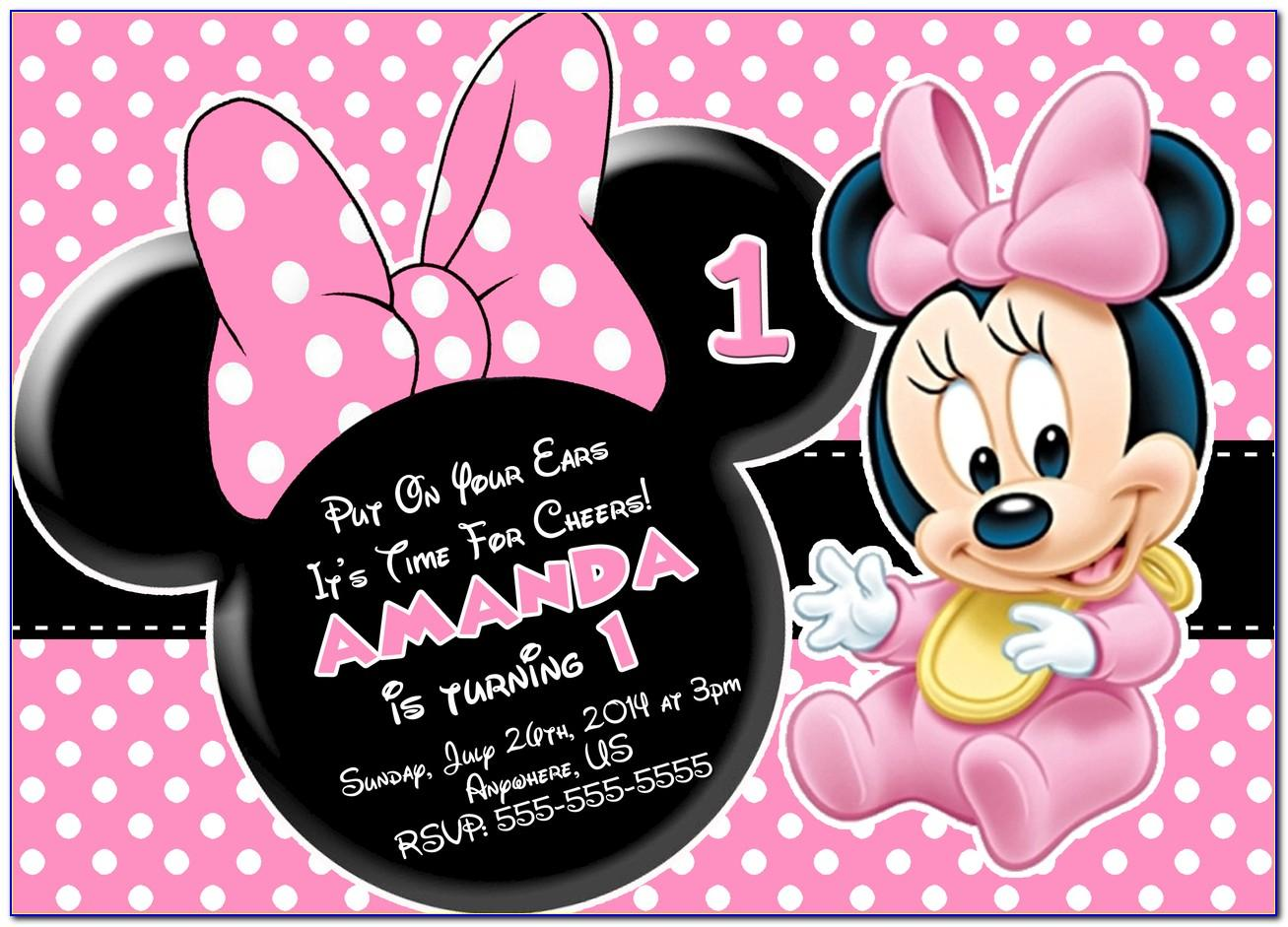 Minnie Mouse Birthday Invite Free