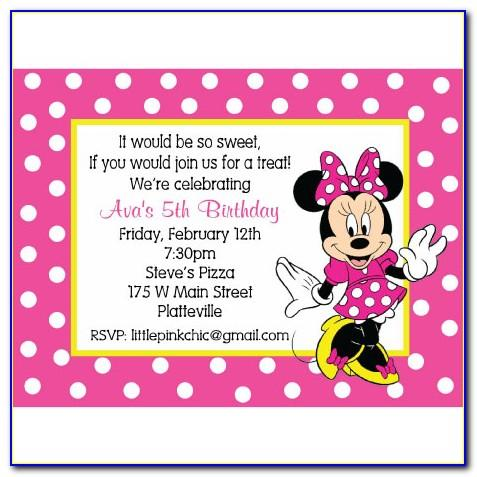 Minnie Mouse Birthday Party Invitations Templates