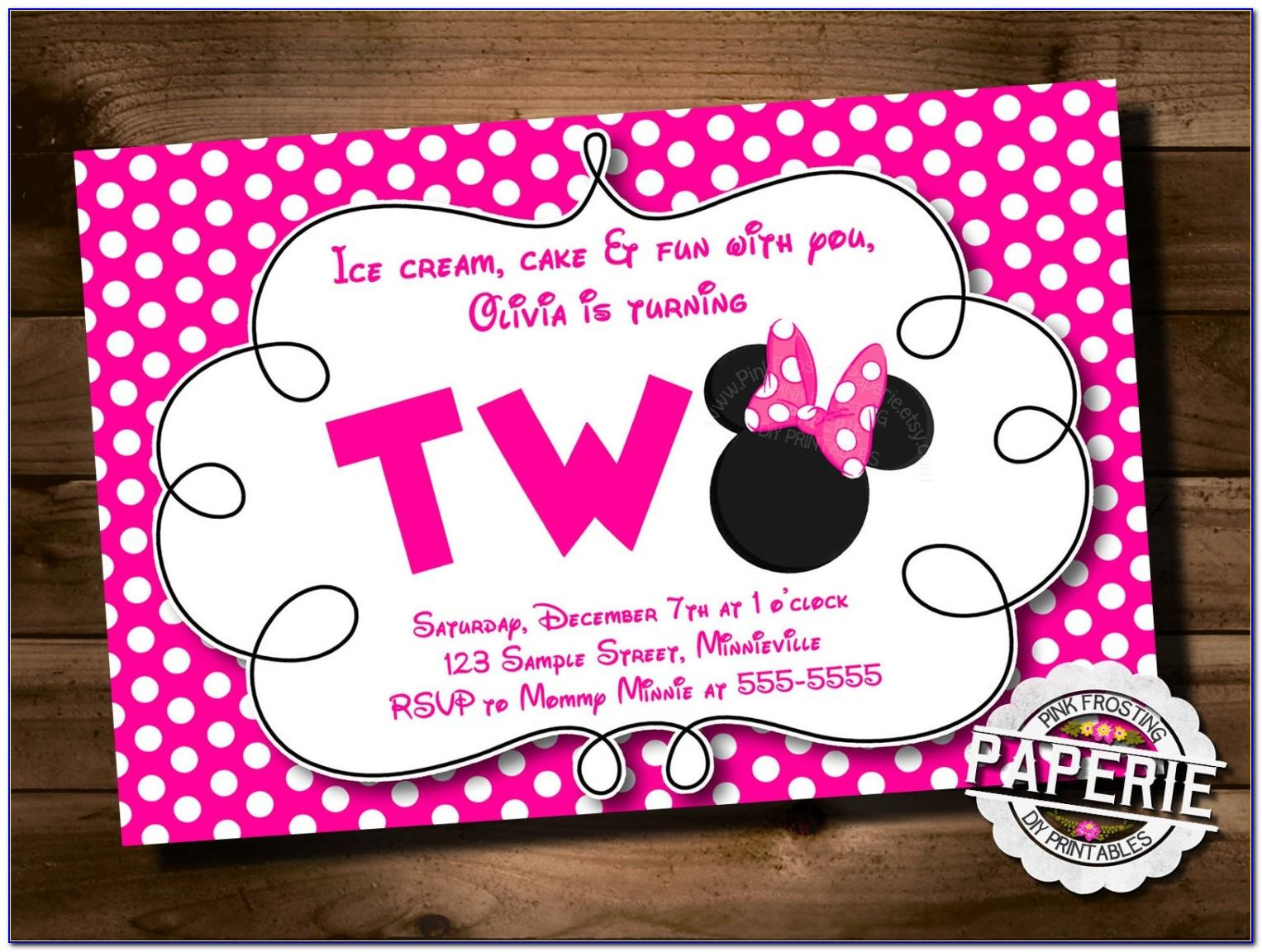 Minnie Mouse Birthday Party Invitations Wording