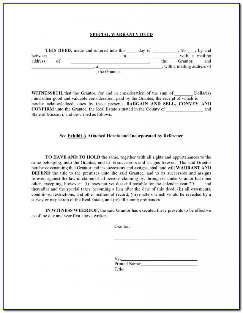 Missouri Real Estate Sales Contract Forms Free
