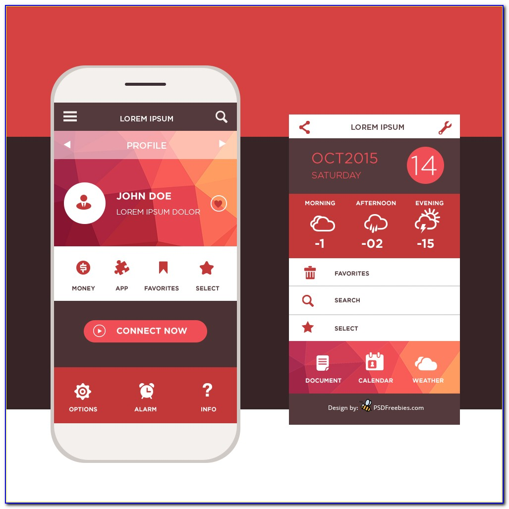 Mobile Application Ui Design Templates