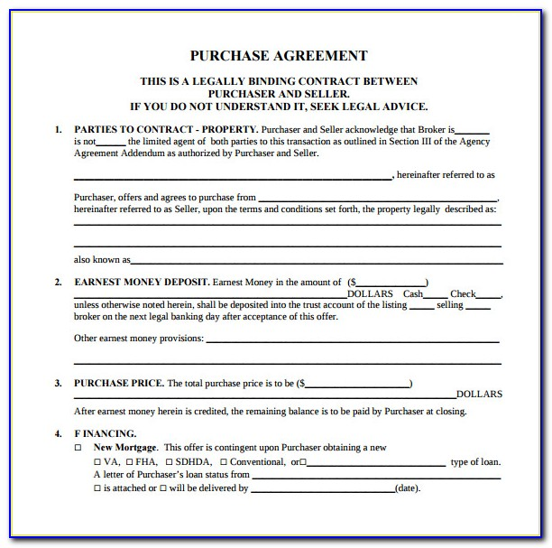 Mobile Home Sales Contract Template