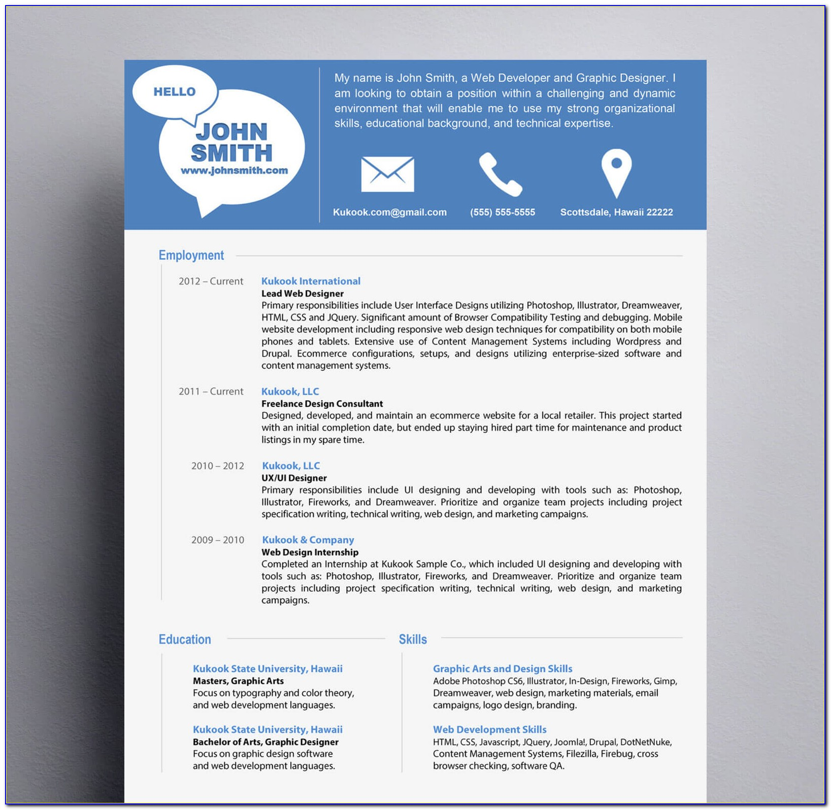 Modern Resume Template Download Word