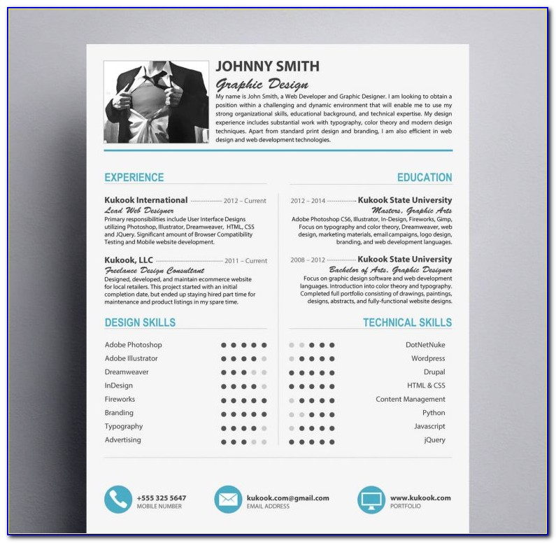 Modern Resume Template Free Download Word
