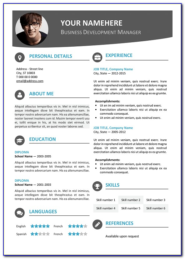 Modern Resume Template Word Download
