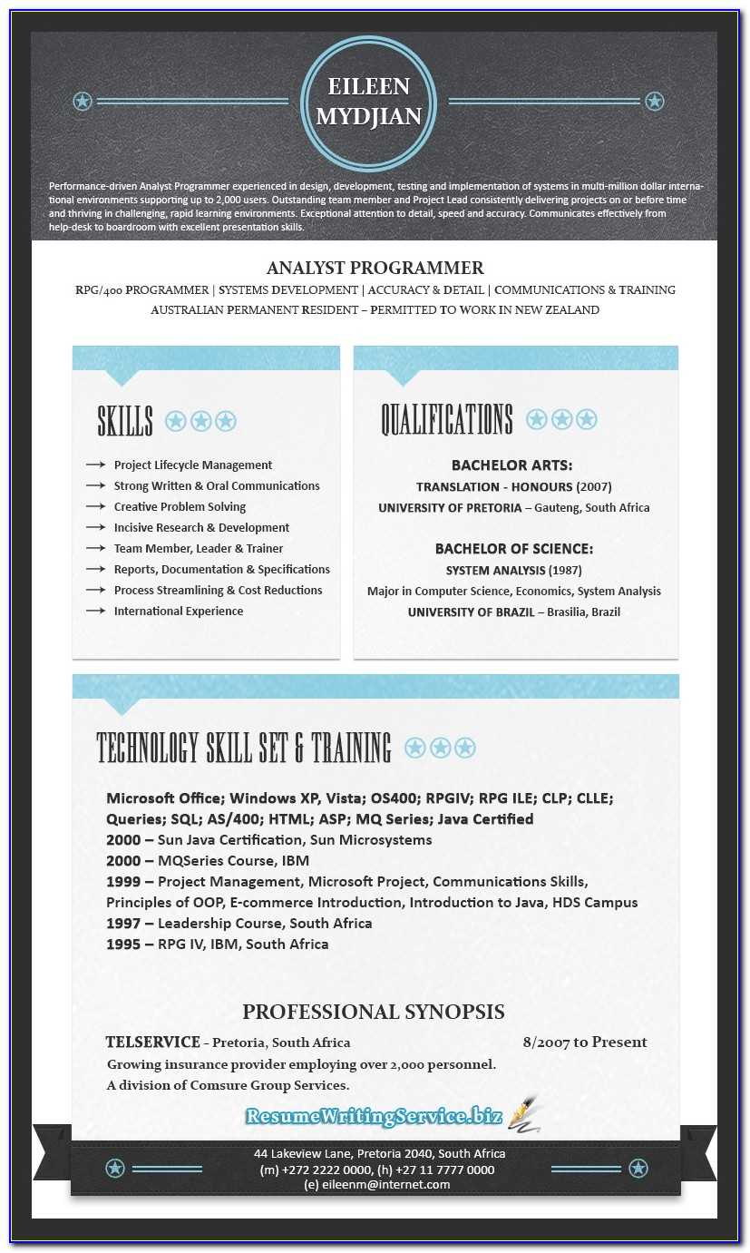 Modern Resume Templates Download Free