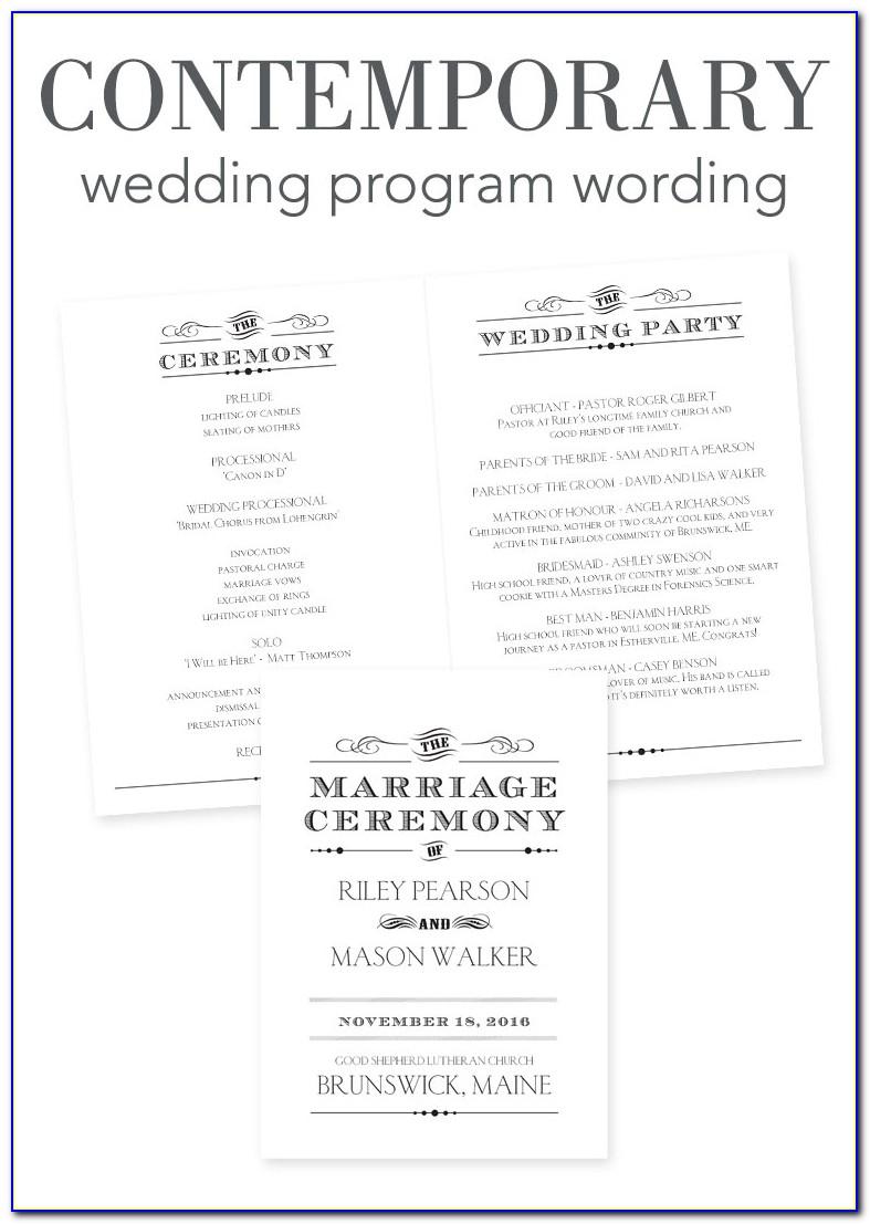 Modern Wedding Program Examples