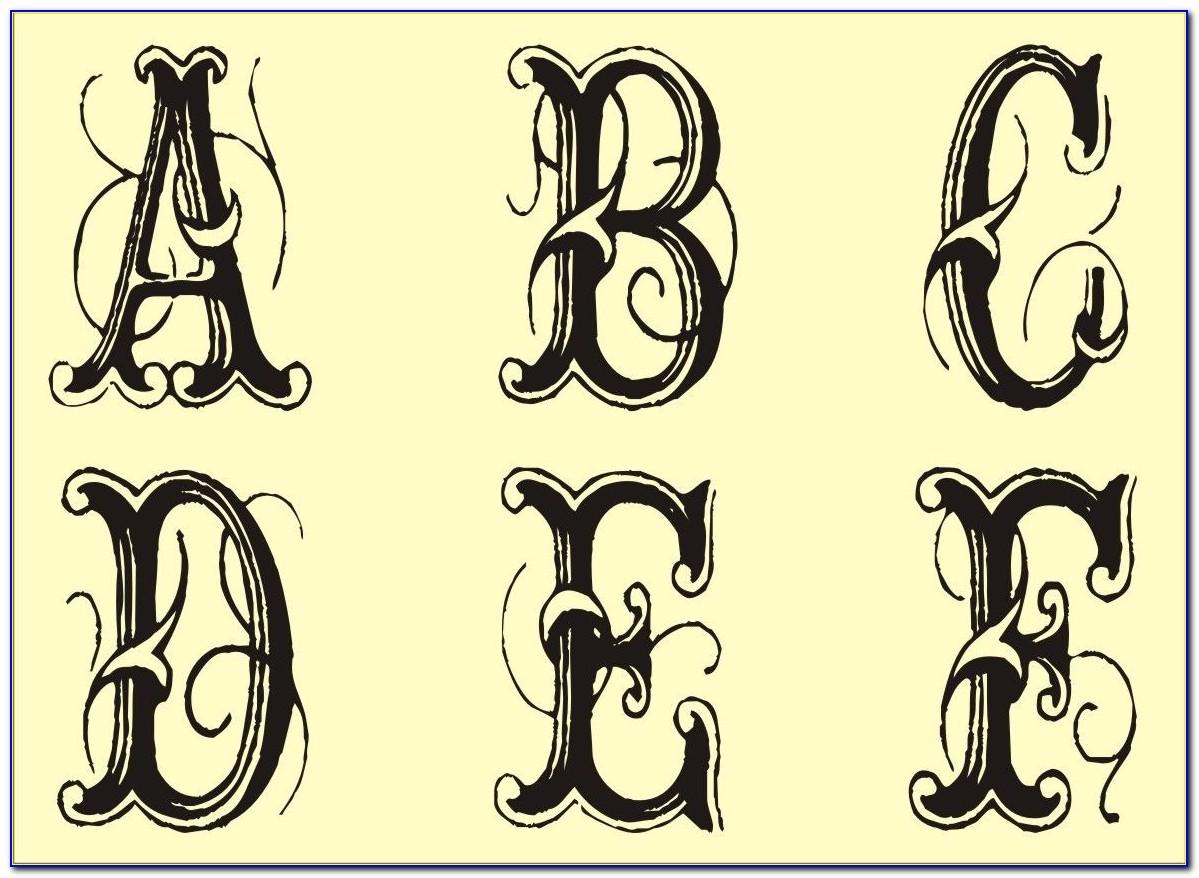 Monogram Letter Stencils Free