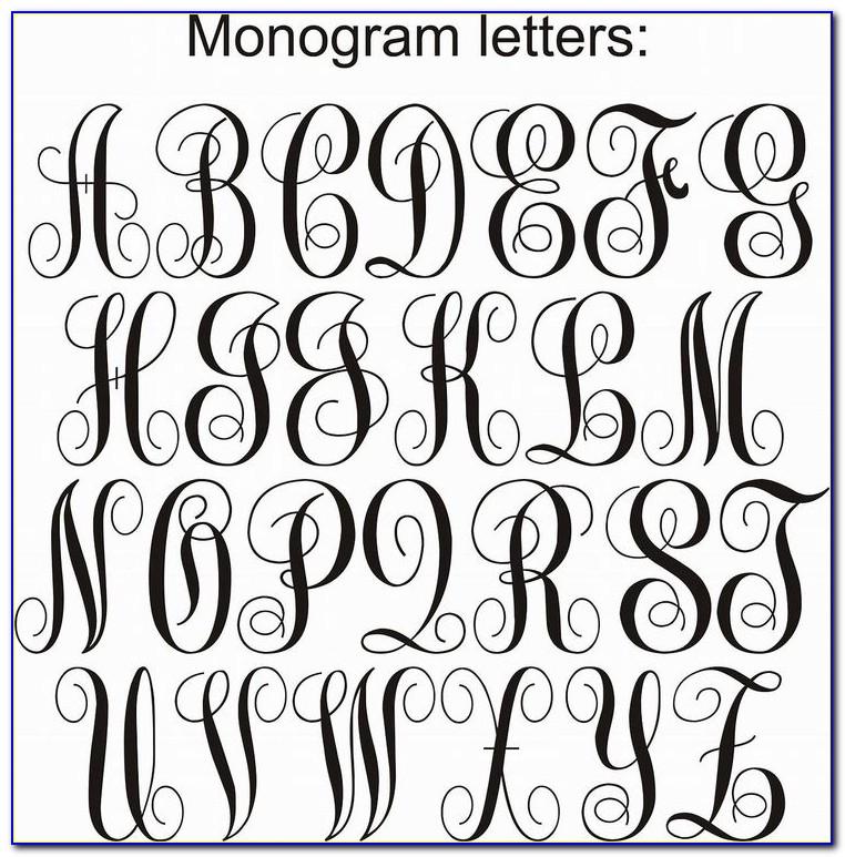 Monogram Letters Font Free