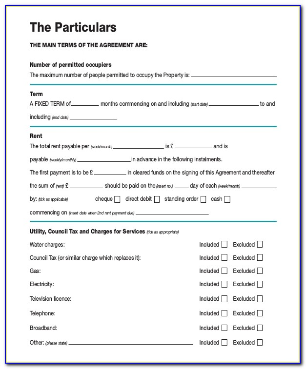Month To Month Lease Agreement Form Ontario
