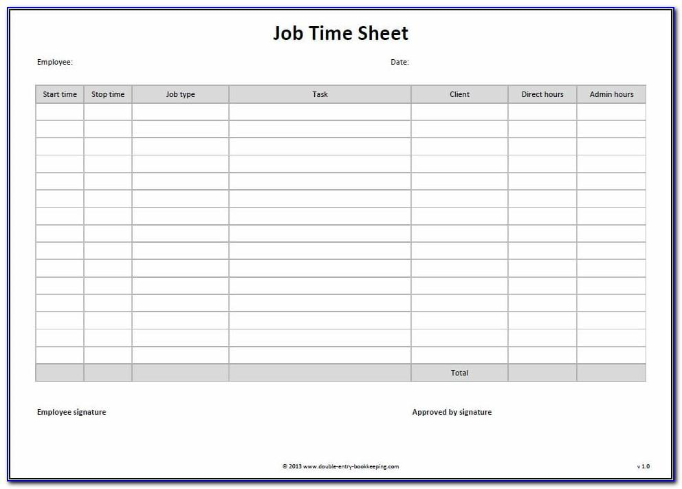Monthly Bookkeeping Excel Template