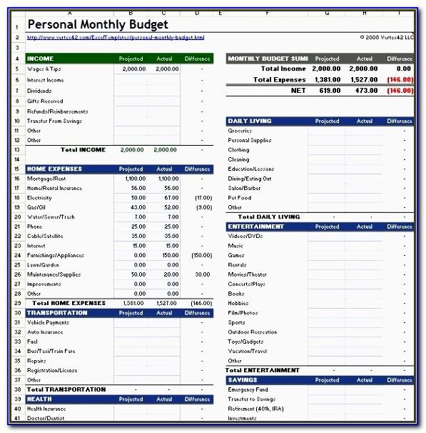 Monthly Budget Planner Excel Template Uk