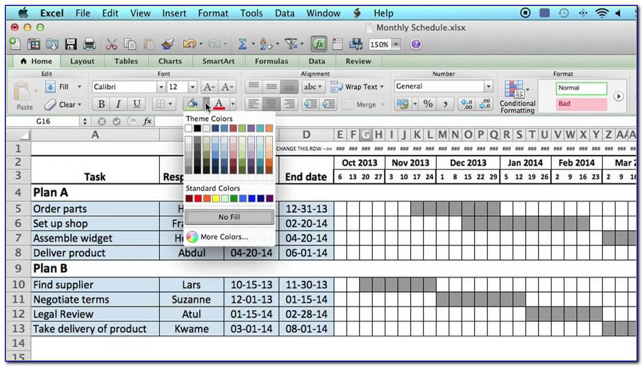 Monthly Capacity Planning Excel Template Free