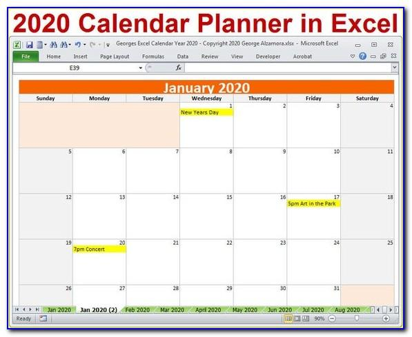 Monthly Meal Planning Excel Template