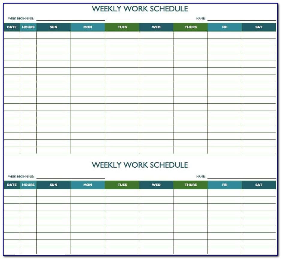 Monthly Planning Template Excel