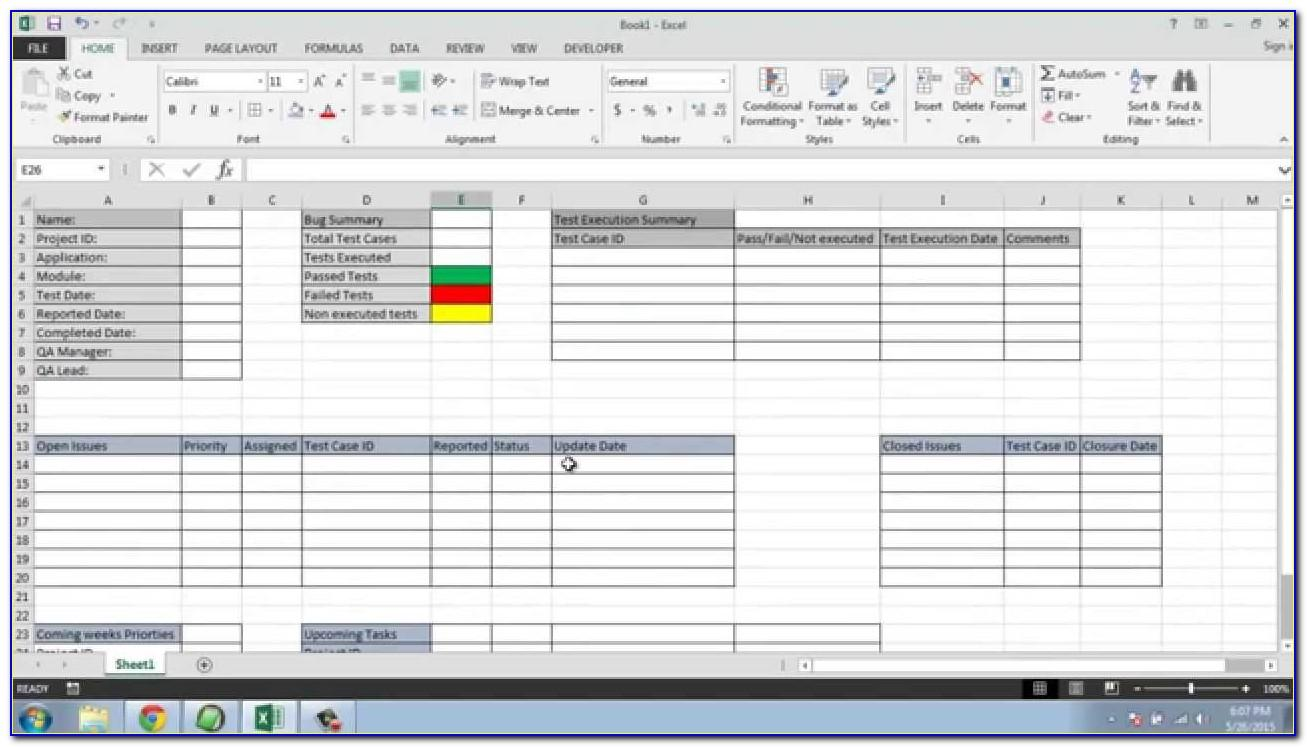 Monthly Progress Report Format Excel Construction