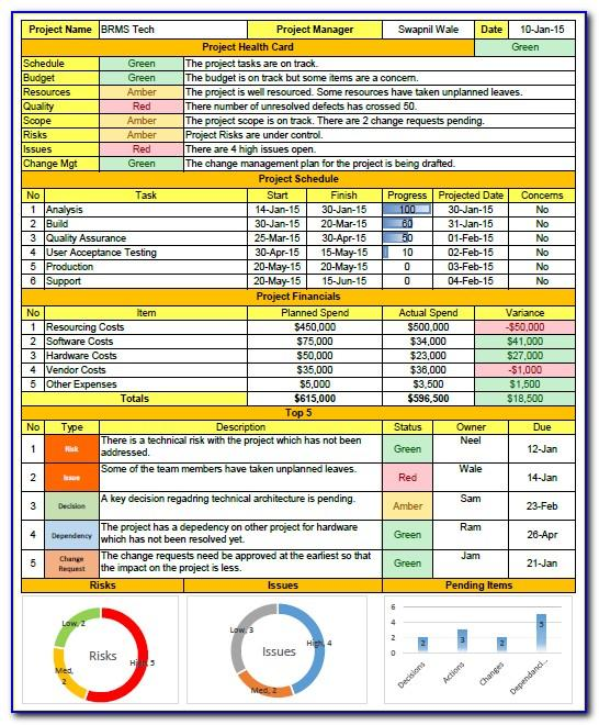 Monthly Reporting Template Excel