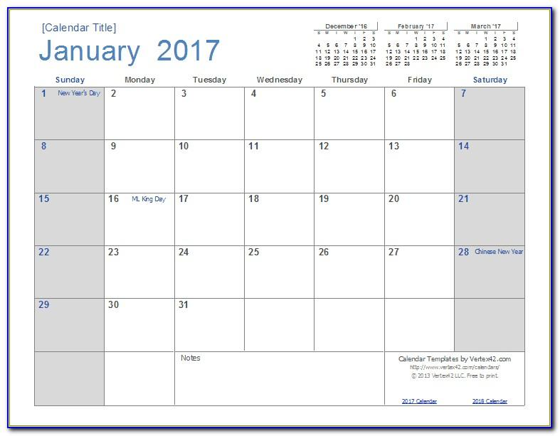 Monthly Schedule Template Excel Free