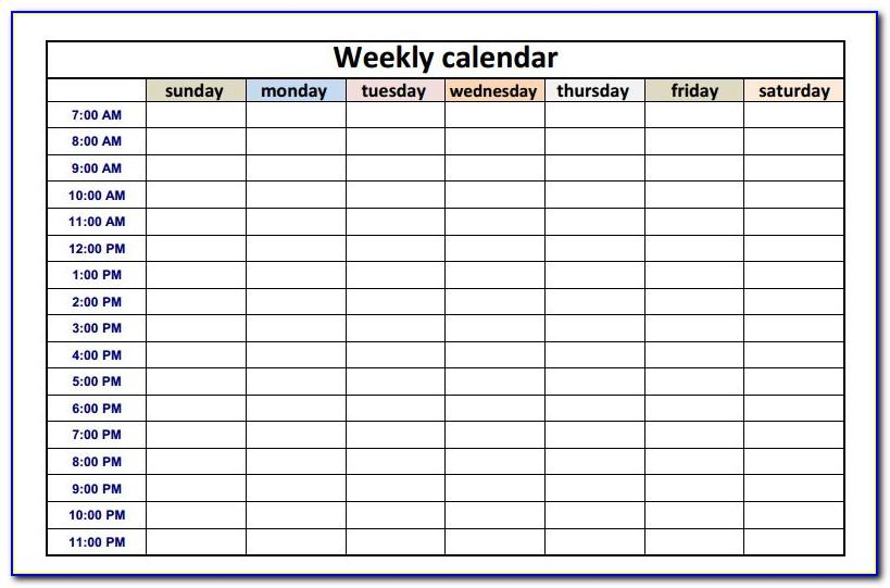 Monthly Schedule Templates Excel