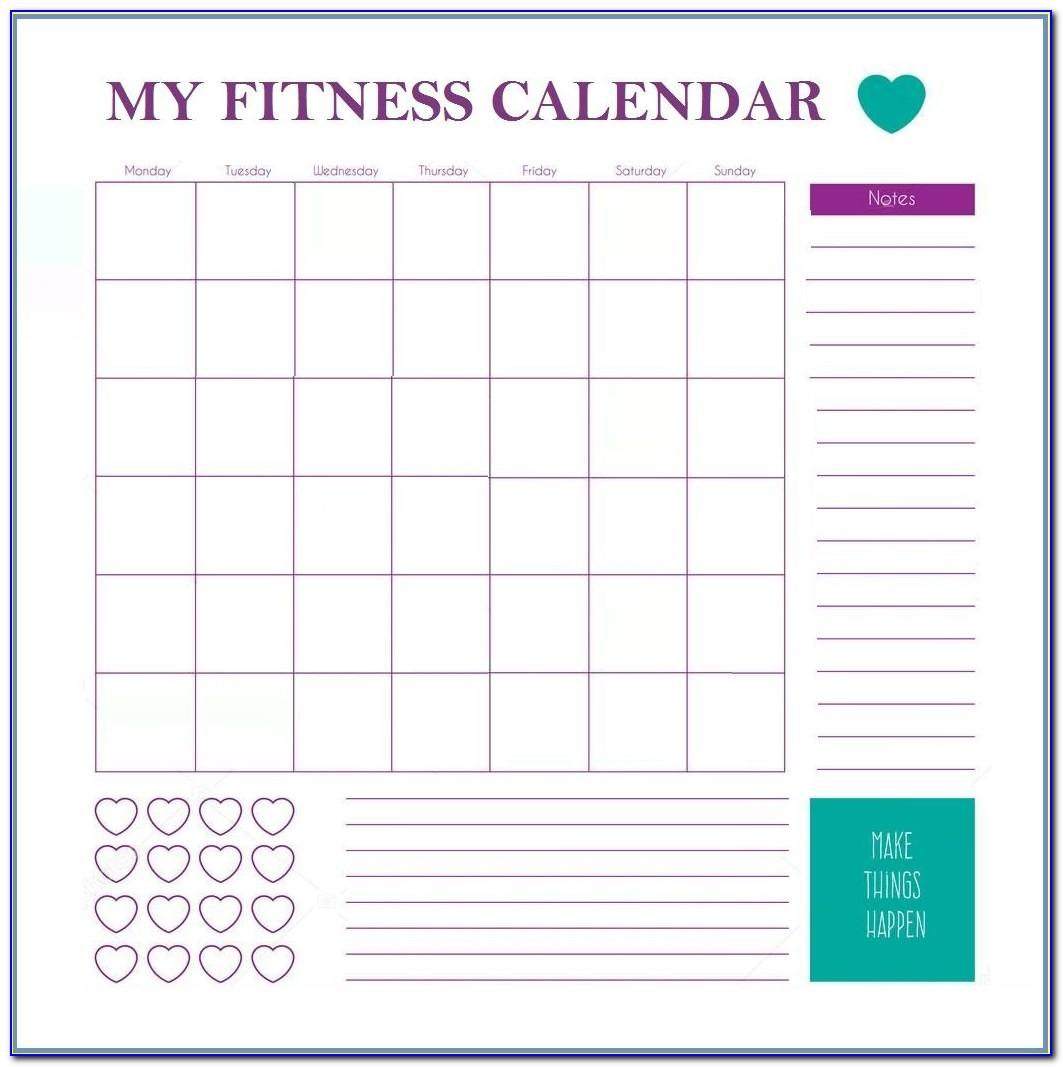Monthly Training Program Template