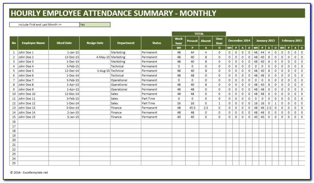 Monthly Training Schedule Template