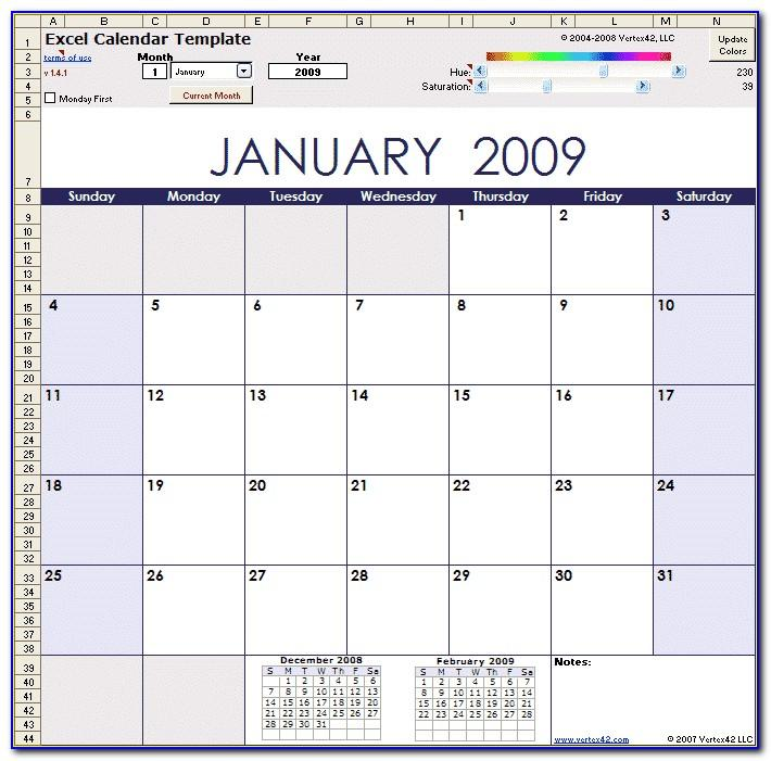 Monthly Work Schedule Template Excel 2010