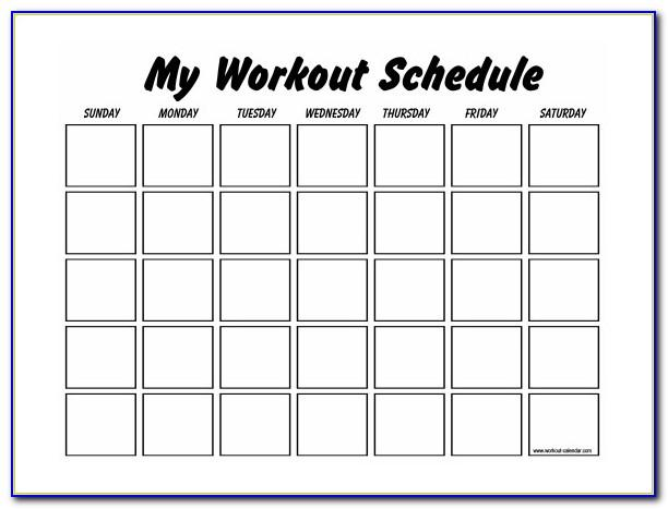 Monthly Workout Planner Template