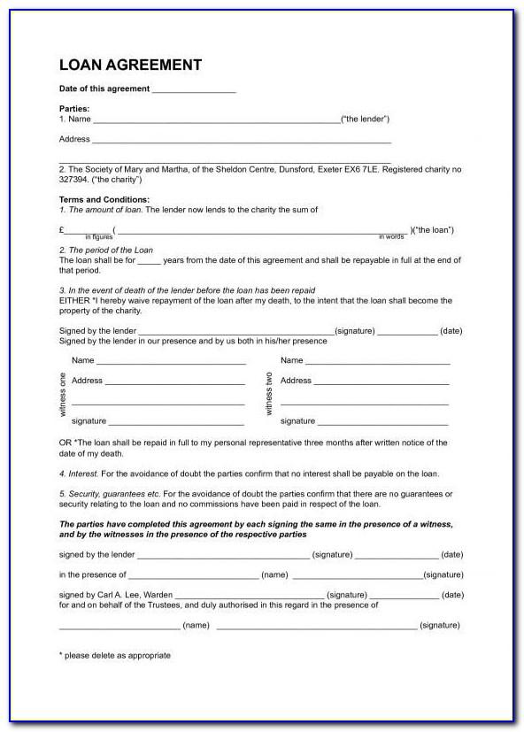 Mortgage Agreement Template Free Canada